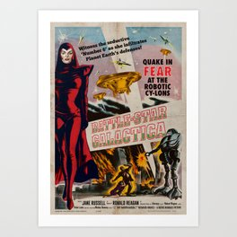 Vintage Battle-Star Galactica Vintage 1955 Theatre Poster Art Print