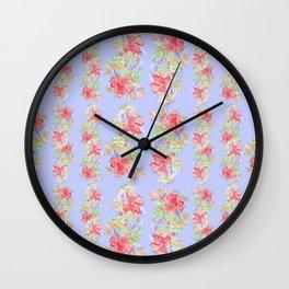 tropical hawaiian flowers periwinkle Wall Clock