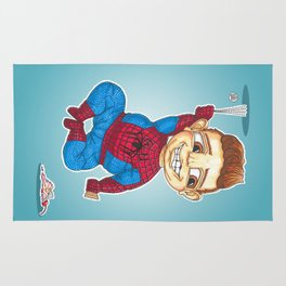 Hanging with Spidey Rug
