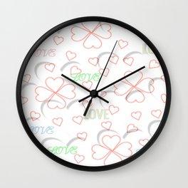 """""""Love Pattern"""" Wall Clock"""