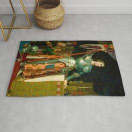 "Jean-Auguste-Dominique Ingres ""Joan of Arc"" Rug"