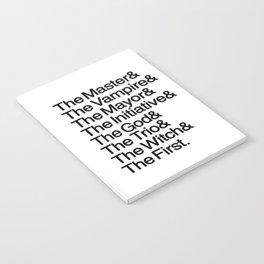 The Big Bads Notebook