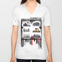cities V-neck T-shirts featuring Cities 2 by sladja