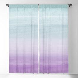 Touching Mermaid Girls Watercolor Abstract #1 #painting #decor #art #society6 Blackout Curtain