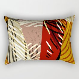 Patch Pattern Rectangular Pillow