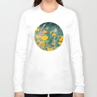 aperture Long Sleeve T-shirts featuring Orange Cosmos by Laura Ruth