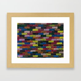 Follow The Bright Brick Road Framed Art Print