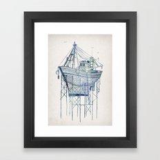 Dry Dock I Framed Art Print