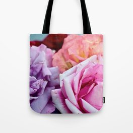 The Happiness of Roses Tote Bag