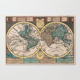 Vintage Map of The World (1740) Canvas Print