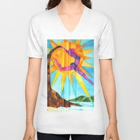 brand new V-neck T-shirts featuring Brand New Day by Heather Torres Art