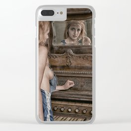 Mirror Image Clear iPhone Case