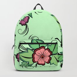 Abstract floral frame Backpack