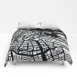 Monochrome Amsterdam Comforters