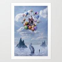 castle Art Prints featuring Sweet Castle by teddynash