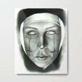 Evil Nun Metal Print