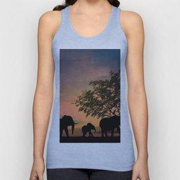 Sunrise Elephants Unisex Tank Top