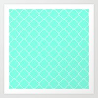 moroccan Art Prints featuring Mint Moroccan by Beautiful Homes