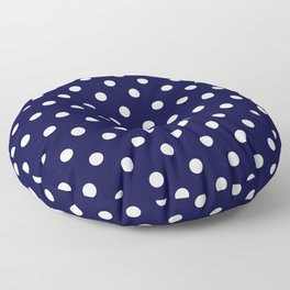 Polka Dots Pattern , Blue Polka Dots  Floor Pillow