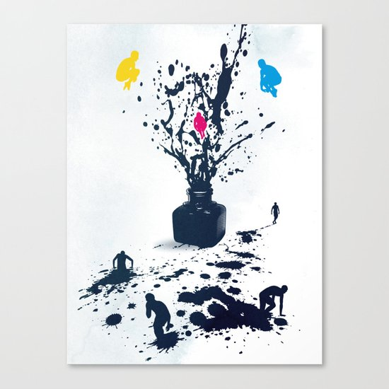 Inked Canvas Print