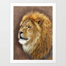 Big Lion Art Print