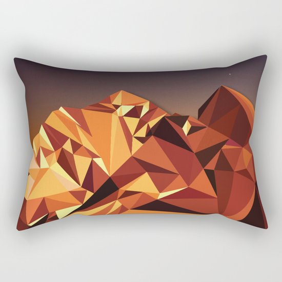 Night Mountains No. 7 Rectangular Pillow