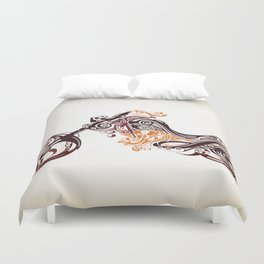Abstract Motorcycle Duvet Cover