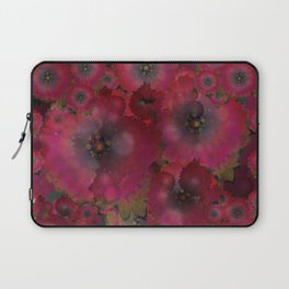 """Manila deep rose flowers"" Laptop Sleeve"
