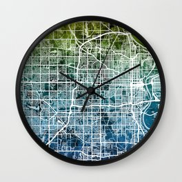 Omaha Nebraska City Map Wall Clock