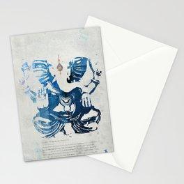 GANESHA indigo Stationery Cards