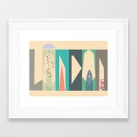 london Framed Art Prints featuring London by Oh! My darlink