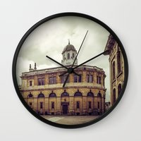 theater Wall Clocks featuring Oxford: Sheldonian Theater by Solar Designs
