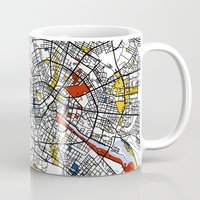 berlin Mugs featuring Berlin  by Mondrian Maps