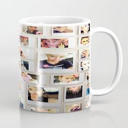 Miley Selfie Polaroid Collage Coffee Mug