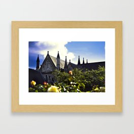 Church gardens Framed Art Print
