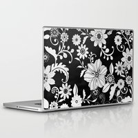 floral pattern Laptop & iPad Skins featuring Floral pattern by Laake-Photos