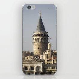 Galata Tower, A historical place in Istanbul Turkey iPhone Skin