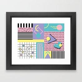Memphis Pattern 27 - 80s - 90s Retro / 1st year anniversary design Framed Art Print
