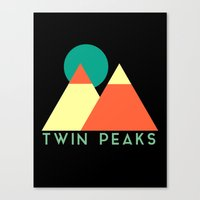 twin peaks Canvas Prints featuring Twin Peaks by Victor Velocity