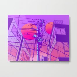 Anime Wires Metal Print