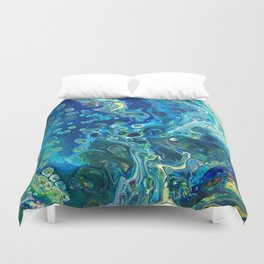 Fluid Nature - Marine Odyssey - Abstract Acrylic Art Duvet Cover