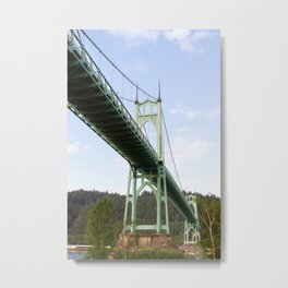 St John's Bridge Portland Metal Print
