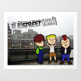 Kyoto Street Punk Art Print