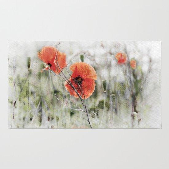 Poppies(mist). Rug