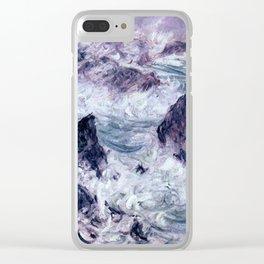 Claude Monet Storm At Belle Ile Clear iPhone Case