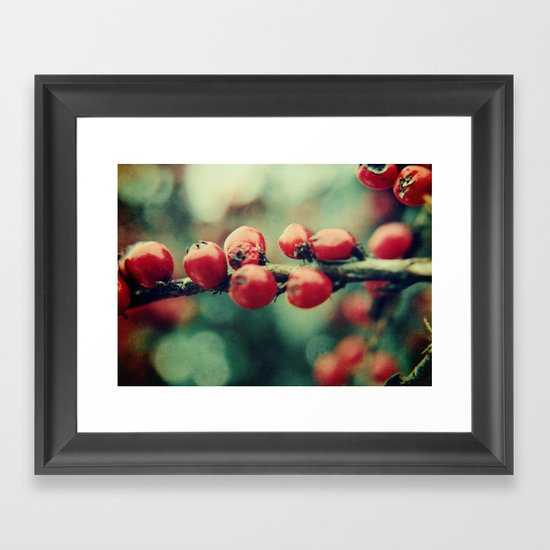 Red Winter Berries Framed Art Print