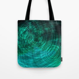 teal turquoise circles Tote Bag