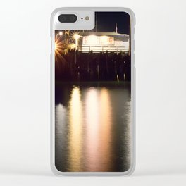 Night Light Harford Pier Port San Luis Avila Beach Clear iPhone Case
