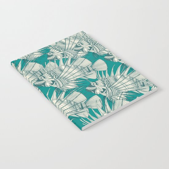 fish mirage teal Notebook