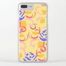 zakiaz summer roses Clear iPhone Case